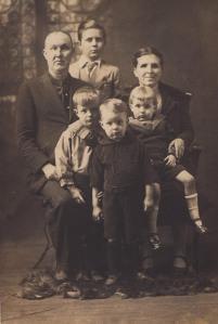 Ed Haley and family, circa 1927