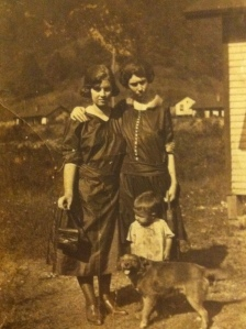 Inez (McCann) Adkins and Cora Adkins, circa 1920s