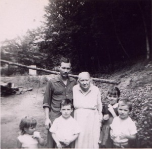 Lawrence Haley with Aunt Liza, 1950-1953