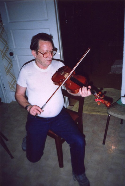 Lawrence Haley with Ed Haley Fiddle
