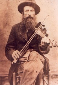 Marshall Cottrell, Fiddle Player and Confederate Veteran from Clay County, WV