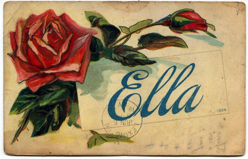 Ella Haley Postcard