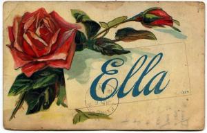Ella Trumbo postcard, c.1910