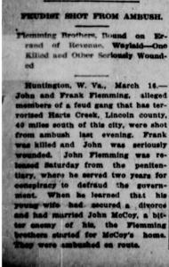 Newspaper article, 1908