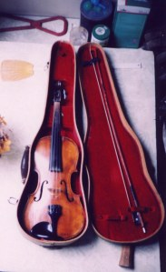 Ed Haley fiddle, given to Doc Holbrook many years ago