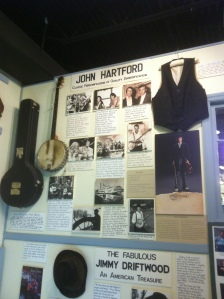 John Hartford display, Museum of Appalachia, Norris, Tennessee, 2011-2012