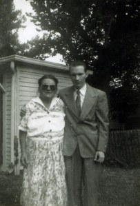 Ella Haley with Lawrence Haley, 1950s