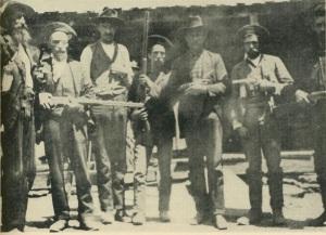 Devil Anse Hatfield (left)