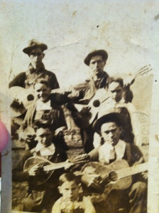 "J.M. ""Doc"" Mullins and sons, Ferrellsburg, Lincoln County, WV, 1920s."