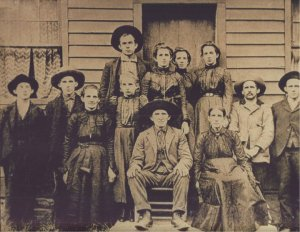 Anthony Adams family, Harts Creek, Logan County, West Virginia, 1890