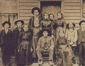 Anthony Adams family, Harts Creek, Logan County, West Virginia, 1890