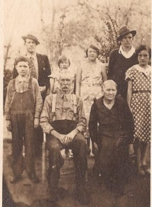 Peter Mullins family, Trace Fork of Big Harts Creek, Logan County, WV, 1940s