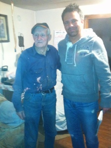 Cousin Emmett Dingess and myself, Shively, Logan County, WV, 2011