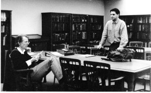 My first meeting with John Hartford, Morrow Library, Huntington, West Virginia, 1 March 1995