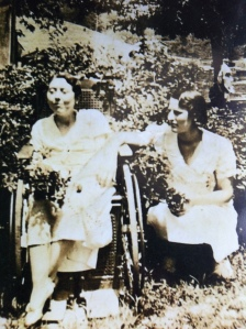 Pearl Adkins (left), Harts, Lincoln County, WV