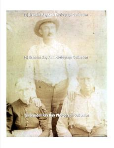 Hugh Dingess stands behind his parents, Sallie (Adams) Dingess and Henderson Dingess