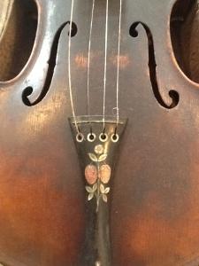 "The fiddle of Josie (Spaulding) Cline, ""Lady Champion Fiddler of Kentucky, Virginia, Ohio & West Virginia"""