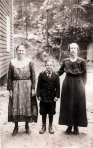 Minnie Hicks (right) with her son, Russell Shaver, Calhoun County, WV, c.1912