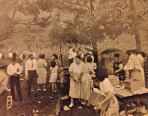 """""""Dinner on the ground"""" scene, Harts Creek, Lincoln or Logan County, WV"""