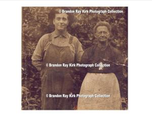 Frances Lucas Bush and George Bush, residents of Wewanta, Lincoln County, WV