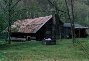 Milt Ferrell cabin, Rector, Big Ugly Creek, Lincoln County, WV, c.1998