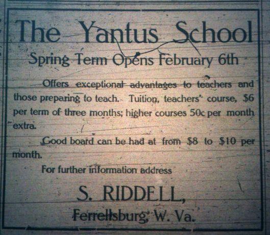 Yantus School, S. Riddell LD 01.12.1911 1