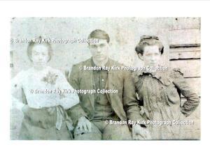 Ina Adams, George Mullins, and Rosa Adams, residents of Spottswood, Logan County, WV, c.1903