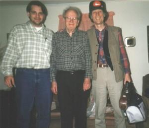 Slim Clere, John Hartford, and myself at Slim's home in South Charleston, WV, 1996