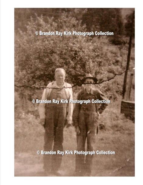 "Ewell Mullins and ""Greasy George"" Adams, Harts Creek, Logan County, WV"
