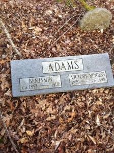 Ben Adams grave, Trace Fork of Harts Creek, Logan County, WV, 27 March 2011
