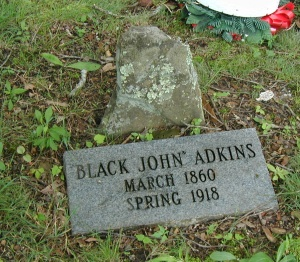John Adkins grave, located in Harts, Lincoln County, WV. John was a former slave.