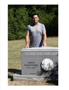 John Hartford's grave, Madison, TN, August 2008