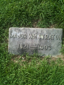 Major William Straton footstone, Logan, WV, 2010