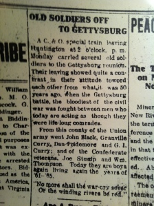 """Old Soldiers Off to Gettysburg,"" Lincoln Republican (Hamlin, WV), Thursday, July 3, 1913"