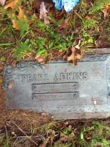 Pearl Adkins grave, Harts, Lincoln County, WV, 2011