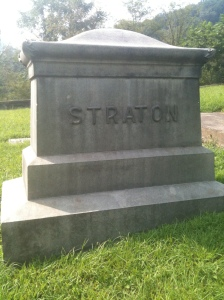Major William Straton headstone, Logan, WV, 2010