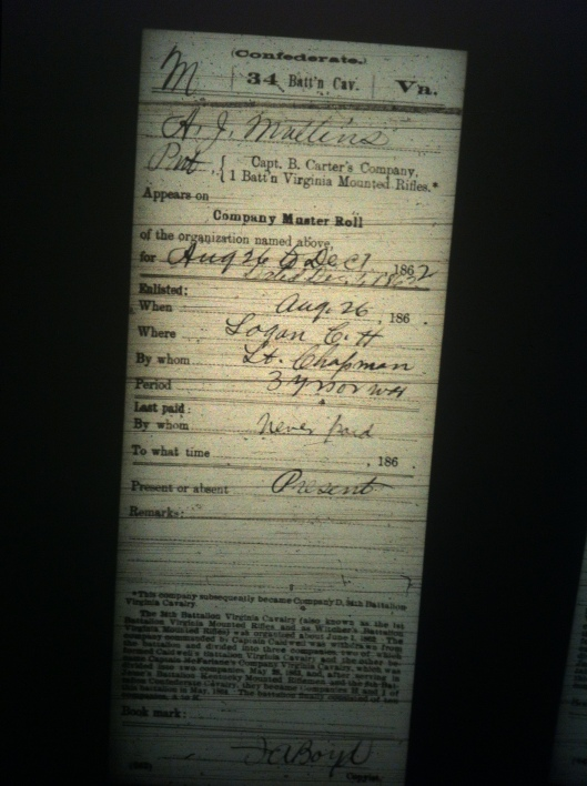 A J Mullins military record 2