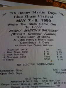 Benny Martin Days, 1999