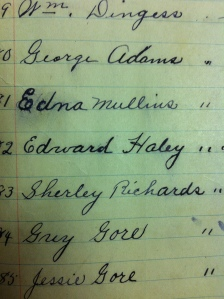 Ed Haley's baptism record, Pilgrim's Rest United Baptist Church, dated May 21, 1911