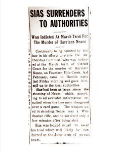 Cum Sias murders Harrison Neace, Lincoln (WV) Republican, 28 April 1921