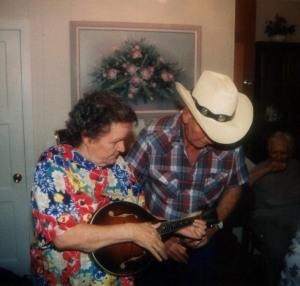 Mona Haley and Harold Postalwait at Pat Haley's house, Ashland, KY, c.1996