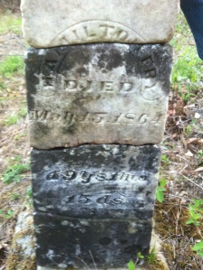 Hamilton Fry grave, located at Brumfield Branch of Big Ugly Creek, Lincoln County, WV, 2011