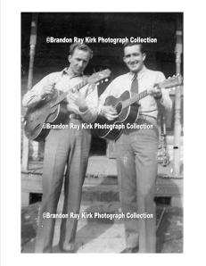 Harts Creek men with guitars, Logan County, WV