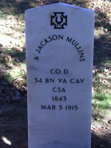 Jackson Mullins tombstone