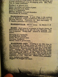 """Hart,"" Polk's West Virginia State Gazetteer and Business Directory, 1882-1883."