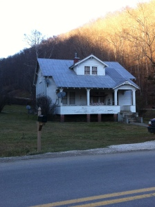 Cecil Brumfield home, erected c.1932 on Smokehouse Fork of Harts Creek in Logan County, WV