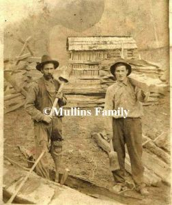 Will Mullins, shown with a peg-leg, resident of Dingess, Mingo County, WV