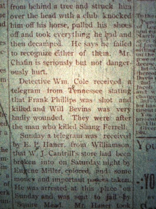Frank Phillips story LCB 4.19.1894