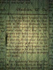 Source: Logan County (WV) Banner, 28 may 1891