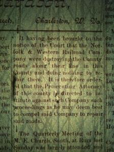 Source: Logan County (WV) Banner, 28 may 1891